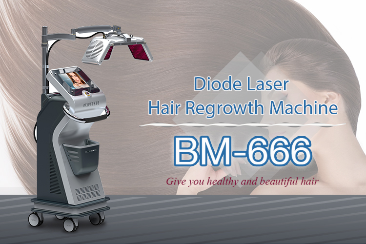 Diode laser-effect way for hair regrowth