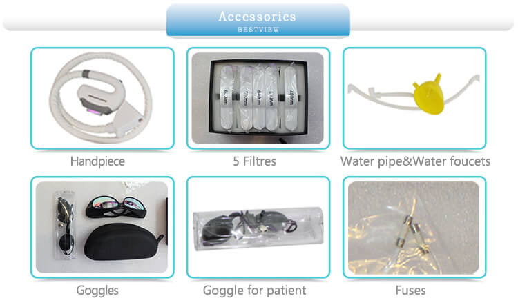 Accessories of IPL hair removal machine
